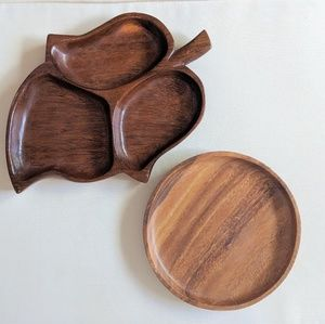 Pair of Wooden Dishes/ Serveware